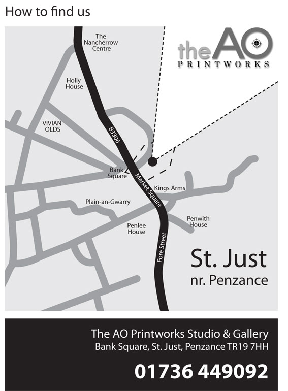 A0 Printworks directional map